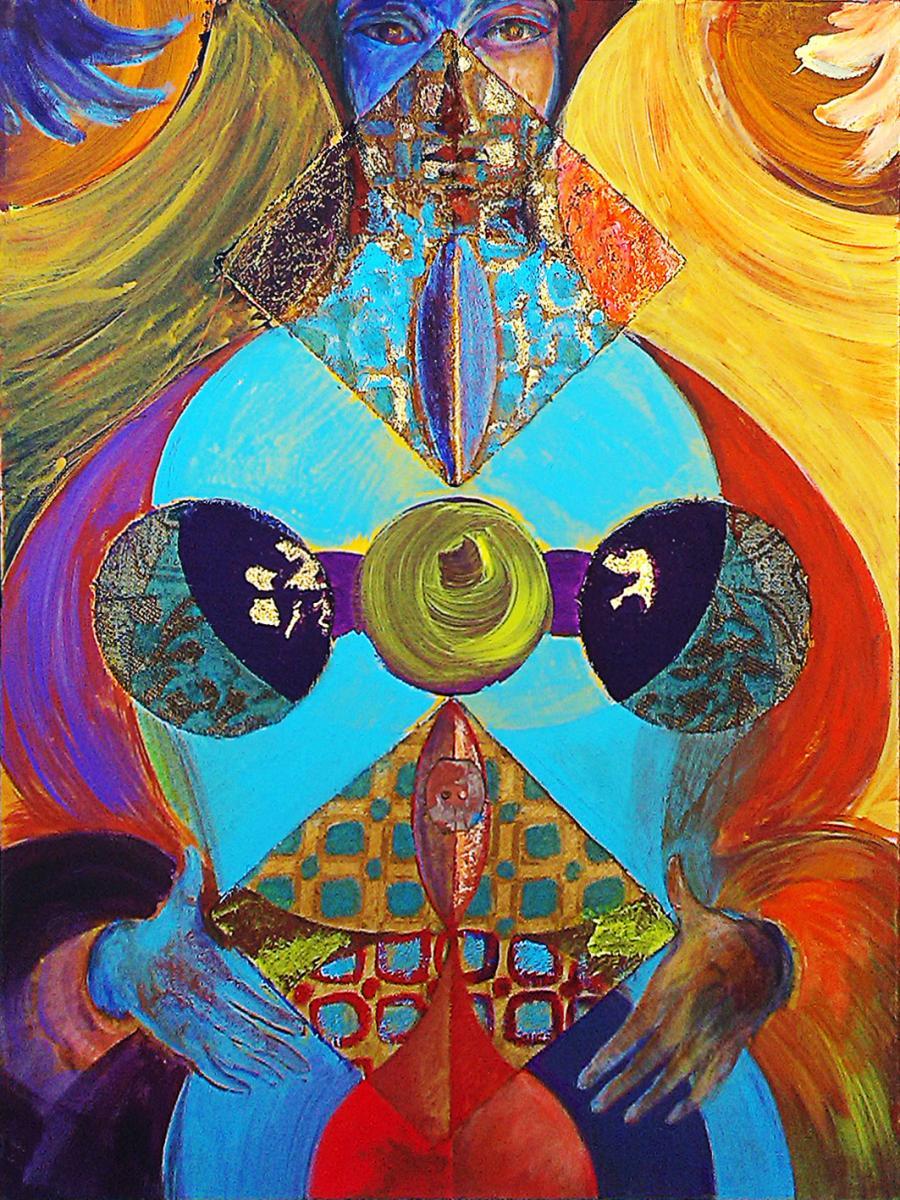 Ceccobelli Bruno, Figlia delle figlie, Tecnica mista su tela, 80x60, 2013